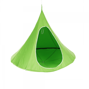 Závesné hojdacie kreslo, zelená, KLORIN NEW KIDS CACOON HAMMOCK