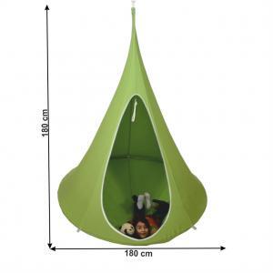 TEMPO KONDELA Klorin New Big Size závesné hojdacie kreslo zelená #1 small