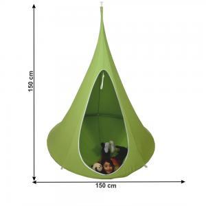 TEMPO KONDELA Klorin New Klasik závesné hojdacie kreslo zelená #1 small