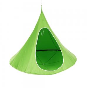Závesné hojdacie kreslo, zelená, KLORIN NEW KLASIK CACOON HAMMOCK