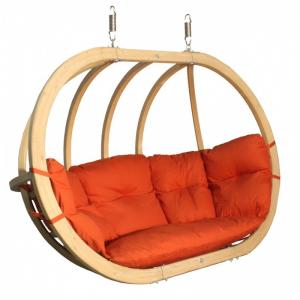 Dvojité závěsné houpací křeslo O-Zone Premier Swing Pod červené
