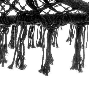 NABBI Hoppy závesné hojdacie kreslo 120x80 cm čierna #3 small