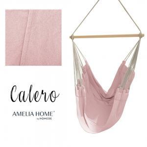 Závěsné houpací křeslo Calero světle růžové